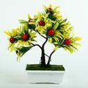 Ceramic Potted Artificial Fruit Plant