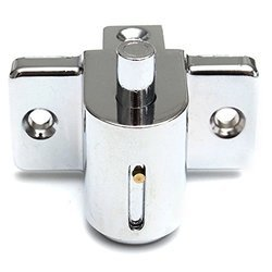 Push Lock Aluminum Sliding Lock