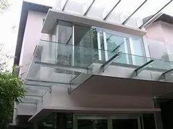 Pergola Elevation Glass Work