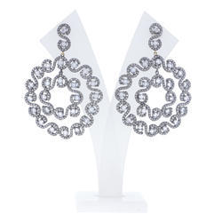 Round Filigree Diamond Earrings