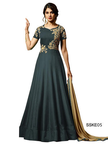 3f7978f55 Grey Color Indian Suit & Fancy Frill Indian Saree Manufacturer from ...