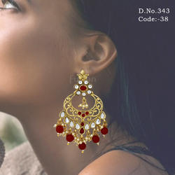 Wedding Designer Kundan Earrings