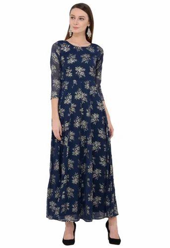 9d3578f1367 Ladies Maxi Dresses - Printed Maxi Dress Manufacturer from New Delhi