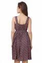 Cotton Floral Print Short Dress