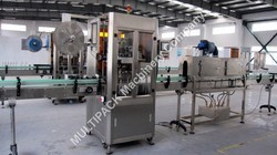 Shrink Sleeve Label Applicator With Steam Tunnel