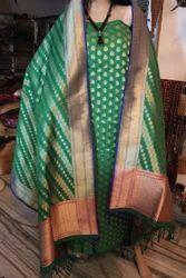 Banarasi Buta Silk by Georgette Suit