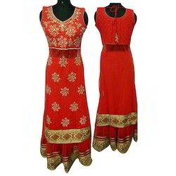 Ladies Embroidered Western Dress