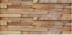 Teak wood sandstone wall Panels / Wall cladding tiles