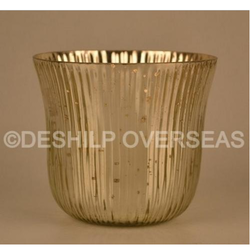 Gold Silver Candle Votive