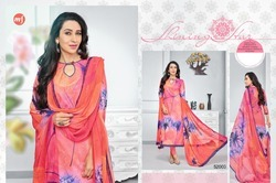 3/4 Sleeve Eleesaa Salwar Suit Fabric