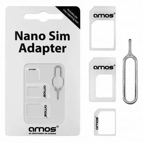 Noosy 3 In 1 Sim Ejector, Nano Sim Card Adapter , Micro Sim