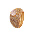 Queens Crown Ring/ Ad Stone/ Casting made for Womens