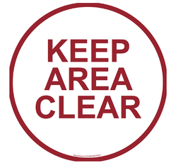 Keep Area Clear Floor Stencil Signs