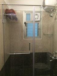 Bathroom Shower Area Glass Partition Work