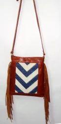 Designer Fringe Sling Handmade Bag