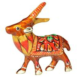 Meena Painted Deer Sculptures