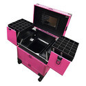 Leather Vanity Case With Trolly