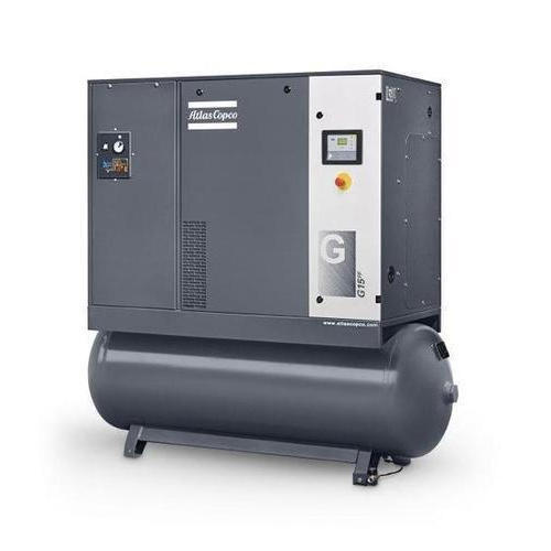 Tank Mounted Lubricated Screw Air Compressor