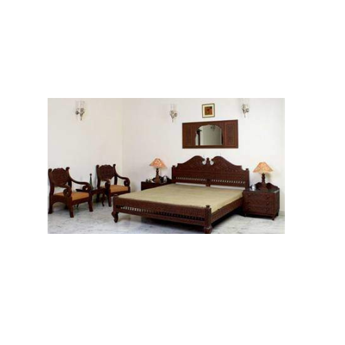 Hand Carved Wooden Bedroom Set