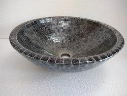 Glass Washbasin Black