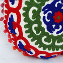 White Floral Embroidered Cushion