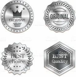 Silver Metal Badge