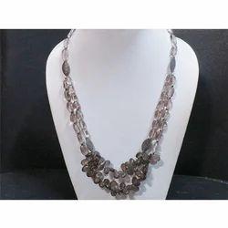 Smokey Topaz Gemstone Beaded Necklace