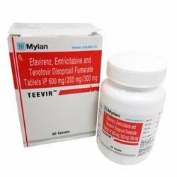 Teevir-600/200/300 mg Tablet