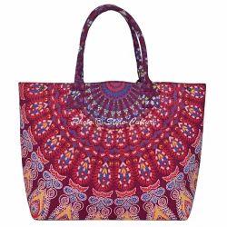 Mandala Hand Bags Mandala Cotton Handbags Exporter From Jaipur