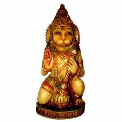 Resin Culture Marble Sitting Hanuman Statue