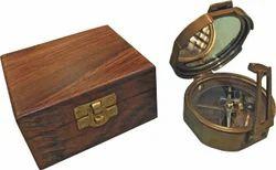 Antique Decorative Items Antique Brass Brunton Dull Finish Compass