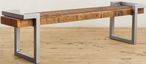 Industrial Vintage Furniture   Steel And Wooden Bench, Industrial Furniture  Manufacturer From Jodhpur