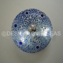 Glass Blue Mosaic Ceiling Lamp