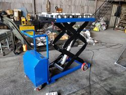 Electro Hydraulic Scissor Lift Trolley (Battery Operated)