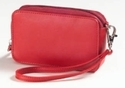 Soft Leather Cosmetic Bag
