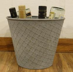 Galvanized Storage Bucket