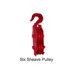 Six Sheave Pulley