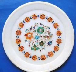White Stone Inlaid Plate