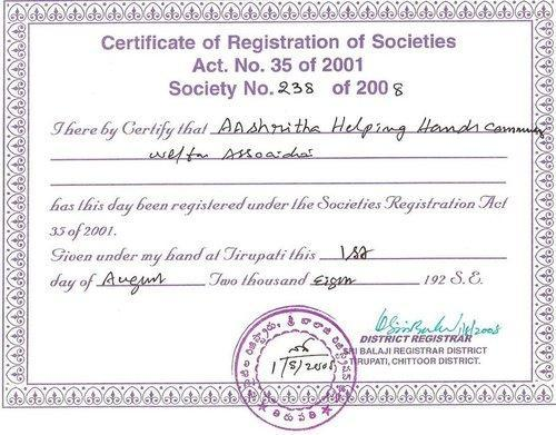 society share certificate