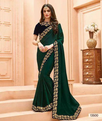 62dd4da32c Party Wear Sarees - Bela Heavy Crepe Silk Saree Manufacturer from Surat