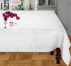 Red Wine Printed Table Cloth