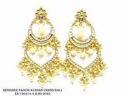 Designer Pachie Kundan Earring
