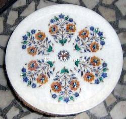 White Marble Inlaid Plate