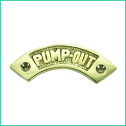 Nameplate  Pump- Out Curved ( Brass)