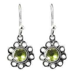 Cloud Song Peridot 925 Sterling Silver Earrings