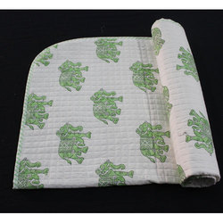 Elephant Printed Baby Quilt
