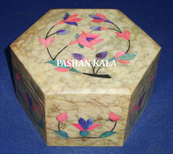 Soapstone Inlaid Boxes