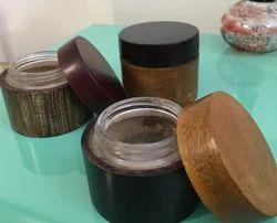 Bamboo Wood Cream Jar