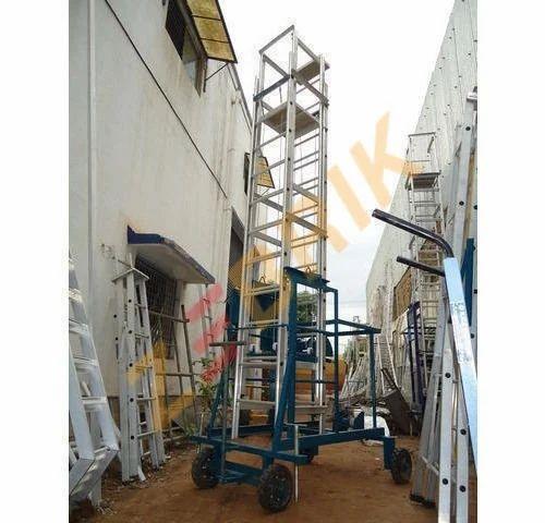 Trolley Step Ladder Aluminium Telescopic Tower Ladder