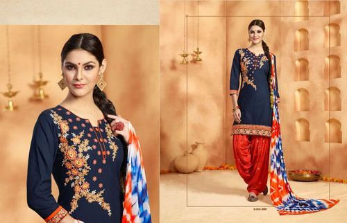 c20f1cce6f4c Designer Embroidery Suits - Patiala Readymade Cotton Embroidery ...